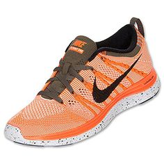Nike Womens Wmns Flyknit One TOTAL ORANGEBLACKSLTRP GRN 85 M US ** Want additional info? Click on the image.