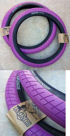 "PAIR OF SUNDAY BMX BIKE CURRENT TIRES PURPLE 20 x 2.40/"" PRIMO CULT ECLAT"
