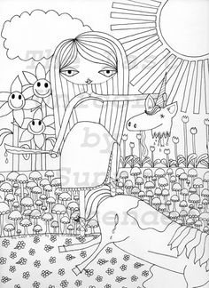 Original, printable adult colouring pages by Sunny Crittenden!  #coloring #colouring #adultcoloring #adultcolouring #coloringbook #colouringbook #PDF
