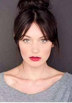 Image result for long middle parted bangs