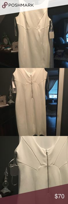 Beautiful white dress with back zip NWT-perfect for the bride to be for a shower or rehearsal dress. Looks great on! 1. State Dresses Midi