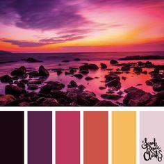 25 Color Palettes Inspired by the Pantone Fall 2017 Color Trends Colour Pallette, Colour Schemes, Color Trends, Color Combinations, Sunset Color Palette, Pantone Fall 2017, Pantone Color, Fall 2017 Colors, Palette Design