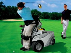 Most wheelchair golfers compromise swing speed and distance when restricted to playing seated. Not any more thanks to the cool Paragolfer from Ottobock!