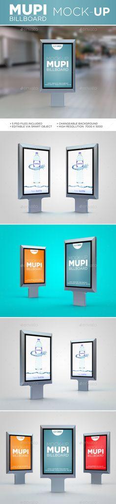 Mupi Billboard Mock-Up #design Download: http://graphicriver.net/item/mupi-billboard-mockup/11585959?ref=ksioks