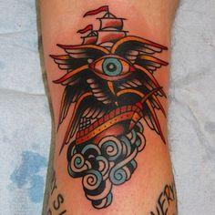 "Craig ""Boxcar"" Chazen @ Live Free Tattoo in Atl. Piercing Tattoo, Piercings, Live Free Tattoo, American Traditional, Tattoo You, Black Tattoos, Traditional Tattoos, Tatting, Ink"