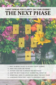 Tarot Spread - The Next Phase: Clarity on Your Journey — Emerald Lotus Divination