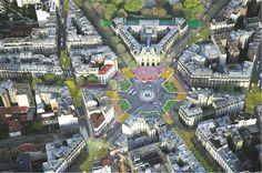 7 lugares de París serán remodelados para que el 50% de su superficie sea para peatones y ciclistas