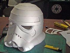 Stormtrooper Helmet with EVA Foam Pepakura Resources, Tools, and Materials for your Pepakura at www.PepakuraPros.com.