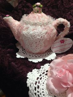 Covered in lace, by Maryelens Piece of Heaven Craft like us on Facebook