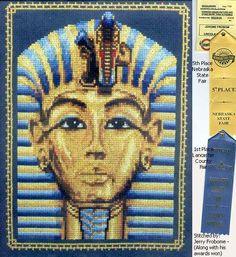 King Tuts Mask cross stitch pattern.