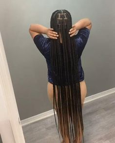 Braided Cornrow Hairstyles, Box Braids Hairstyles For Black Women, Braids Hairstyles Pictures, Dope Hairstyles, Braids For Black Hair, Black Girl Braids, African Braids Hairstyles, Long Twist Braids, Twisted Hair