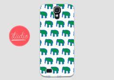Green & Blue ELEPHANT PATTERN - Samsung Galaxy s4, Galaxy s3 #elephant #african #elephantpattern #safari #wildlife #phonecase #case #galaxy #galaxycase #galaxyS3 #galaxyS4