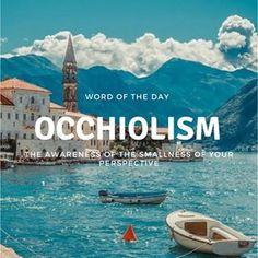 Word Of The Day! • • • #occhiolism #wordoftheday #words #books #literature #photooftheday #school #definition #instagram