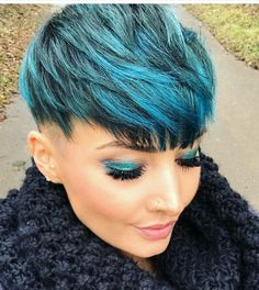 Short Pixie, Short Cuts, Pixie Cut, Natural Hair Styles, Short Hair Styles, Hair Creations, Cute Hairstyles For Short Hair, Fit And Flare, Hair Inspiration