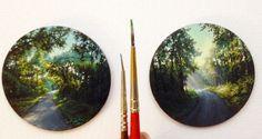 Dina Brodsky - kouzelné malované miniatury přírody