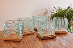 Fused Glass Candle Holder Glass Lantern by StudioGlassCompany, $50.00