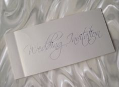 Cheque book wedding invitation by Cute As Can Be Stationery