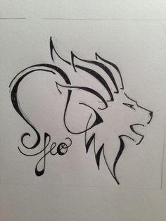 Leo for zodiac tattoo custom tattoo designs. Black and white tattoo, feminine tattoo, zodiac tattoo ginaleecincotta@gmail.com