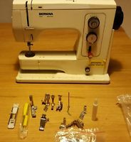 Bernina 801 sewing machine  extras.