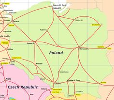Discover Poland by train with a Polish Rail Pass, providing train travel and the freedom to explore the Polish country side and cities. Rail Pass, Train Travel, Eastern Europe, Poland, Map, Country, Rural Area, Location Map, Maps