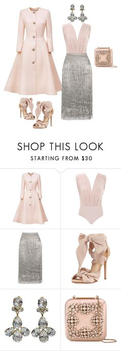 """Pink Ice"" by southernpearlgir ❤ liked on Polyvore featuring Esme Vie, Rachel Zoe, Alexandre Birman and Manolo Blahnik"