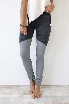 Free People Evolution Legging in Charcoal | ROOLEE