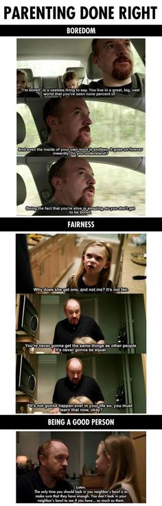 Louis C.K. with really good parenting advice!