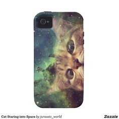 Cat Staring into Space iPhone 4 Covers