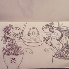 Samurai teacup fish