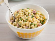 Macaroni Salad with Dill and Ham recipe from Food Network Kitchen via Food Network