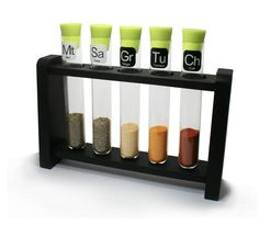 Scientific Spice Rack, could be an easy DIY too