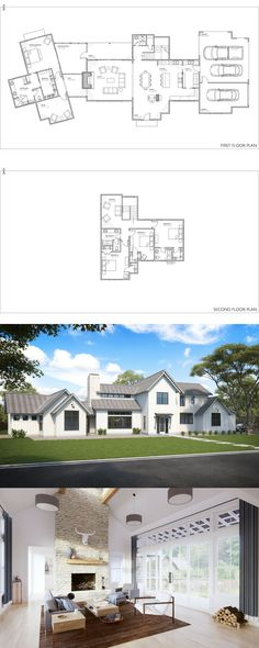 Modern Farmhouse Plan, the Senepol! Our most popular modern farmhouse floor plan. 2 story floor plan with 4 bed, 3.5 bath.
