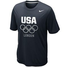 Nike USA London 2012 5 Rings Legend Performance T-Shirt - Navy Blue