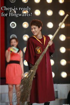 Chen as Harry Potter at the annual SM Halloween party <3 That beautiful moment when two  of my fandoms collide <3