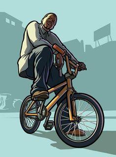 11_gtasa-bmx-500 Arte Do Hip Hop, Hip Hop Art, Rockstar Games Gta, 2pac, Gta Pc, San Andreas Gta, Grand Theft Auto Series, Gaming Wallpapers, Wallpapers Android
