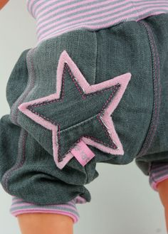 Jeans-Pumphose kurz UPCYCLING Gr. 74