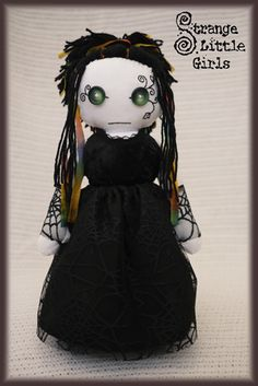OOAK gothic rag doll ~ Belladonna