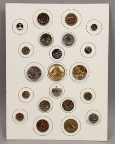 Antique 19c Early 20c Group Picture Buttons incl Ships Boats Lighthouses & Brass