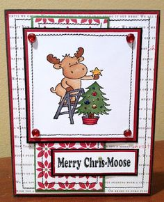 Riley the Moose, Bugbites sentiment  GSS Christmas in July Blog Hop project Day 1