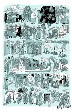The Complete Story of Harry Potter Illustrated in 8 Posters by Lucy Knisley- Book Seven Pt. One