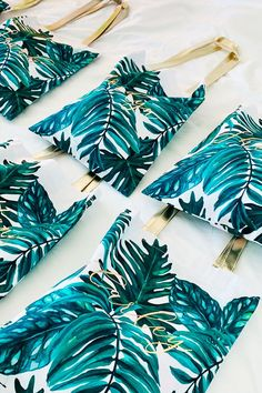 Adorable tropical wedding favor bags you won't want to miss. Bridesmaid Gift Bags, Wedding Gift Bags, Diy Wedding Favors, Wedding Souvenir, Wedding Ideas, Wedding Fun, Nautical Wedding, Wedding Venues, Wedding Inspiration