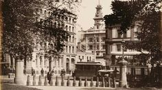 Park Street,Sydney from Hyde Park, 1880 - Australian Continent, Sydney City, Largest Countries, Historical Images, Hyde Park, Small Island, Tasmania, Continents, Old Photos