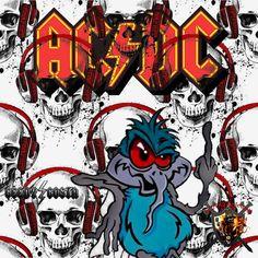Ac Dc Band, Heavy Metal Rock, Rat Fink, 3c, Concert Posters, Punisher, Rock Music, Rock Bands, Rock N Roll