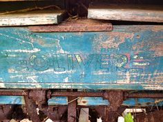 Old wooden crate on old plow  Lucysinspired: Junk Gypsy finds at the Tractor Graveyard