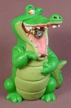 Disney Peter Pan Tic Toc Croc Crocodile PVC Figure, Disney Store Lil Classics Series