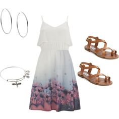 Flower by amahl-1 on Polyvore featuring polyvore, fashion, style, Vero Moda, Steve Madden, Michael Kors and Alex and Ani
