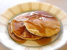 Blender Whole Wheat pancakes (use a blender with uncooked whole wheat berries!)
