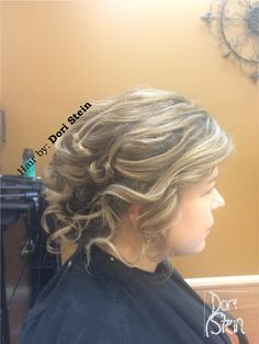 Wedding Hair. The perfect wedding updo. Gorgeous wedding updo. #weddinghair Beautiful wedding hair. #weddingupdo Blonde wedding updo. Wedding updo for short hair. #shorthair #weddingupdo #wedding