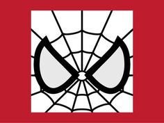Spider-Man Mask Template Printable | Illusion or not? Is Spidey's eyes whiter than the color of his mask?