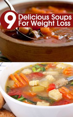 Delicious Soups For Weight Loss. Soups are part of the liquid diet that is usually consumed before a meal or at times as a replacement of Delicious Soups Fo/> Soup Recipes, Diet Recipes, Cooking Recipes, Healthy Recipes, Water Recipes, Weight Loss Soup, Healthy Weight Loss, Nutritious Meals, Healthy Snacks